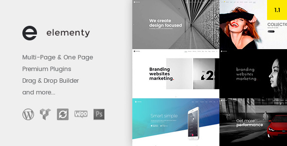 Elementy – Multipurpose One & Multi Page WordPress Theme