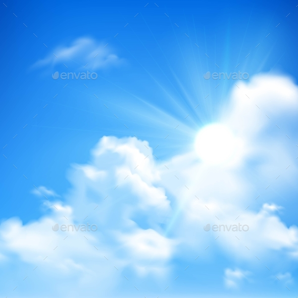 sun and clouds background by macrovector graphicriver