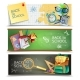 Back To School Horizontal Banners Set