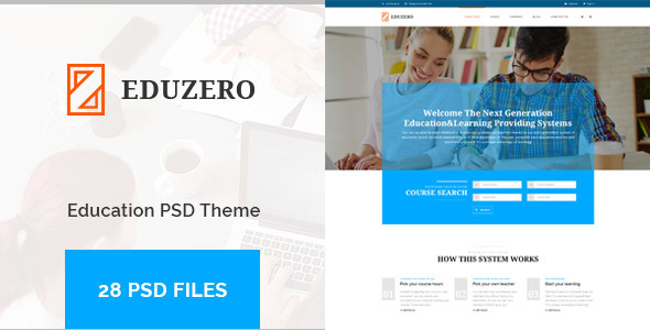 EDUZERO – Education PSD Template
