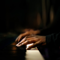 Hands playing piano close-up - PhotoDune Item for Sale