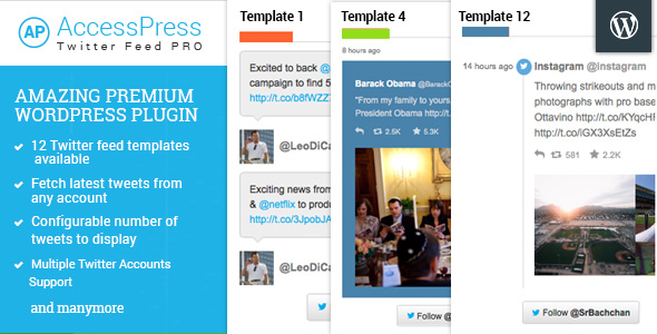 AccessPress Twitter Feed Pro - CodeCanyon Item for Sale
