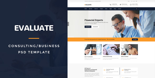 Evaluate : Business/Consulting PSD Template