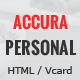 Accura Personal - Resume CV vCard Portfolio Theme - ThemeForest Item for Sale