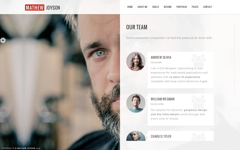 Accura Personal - Resume CV vCard Portfolio Theme by AccuraThemes ...
