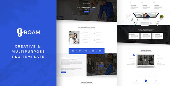 Download Free GROAM - PSD Template