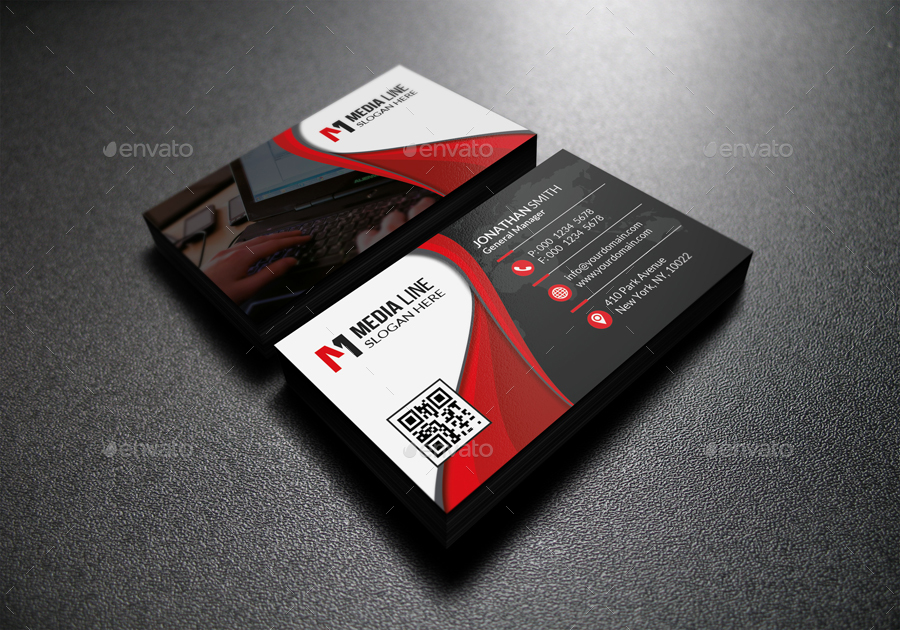 Red corporate business card by farstar60 graphicriver 01modern stylish red and white corporate business cardg colourmoves