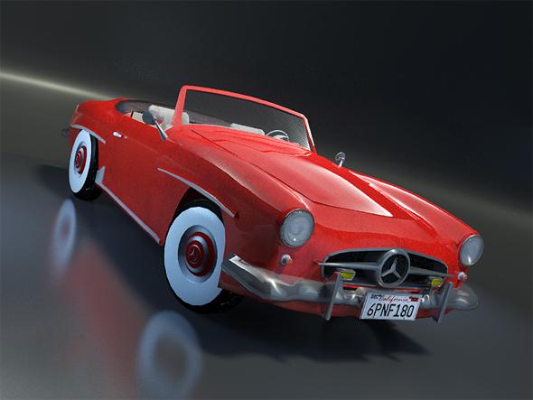 Mercedes SL 190 - 3DOcean Item for Sale