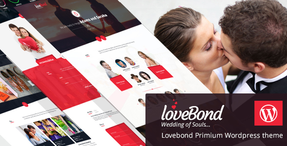 LoveBond - Wedding and Wedding Planner WordPress Theme - Responsive and Elegant - Wedding WordPress