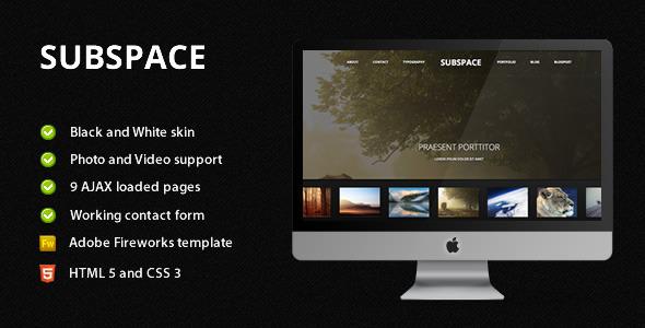 Subspace – Portfolio HTML5 Template
