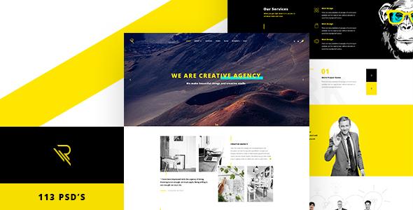 Reticulum - Creative Psd Template - Creative PSD Templates
