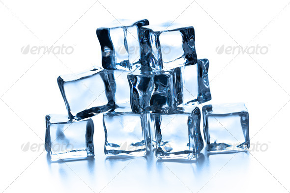 pile of many ice cubes - Stock Photo - Images