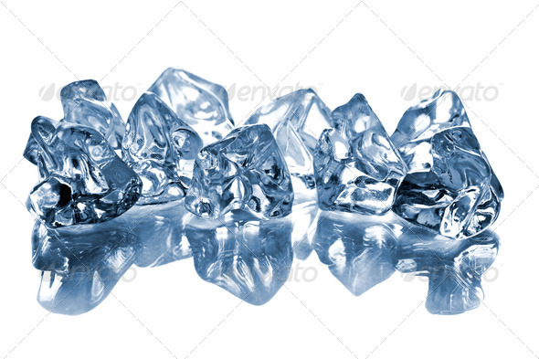the ice cubes on glass table - Stock Photo - Images