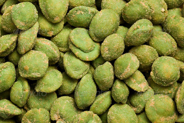 wasabi snack peanuts - Stock Photo - Images