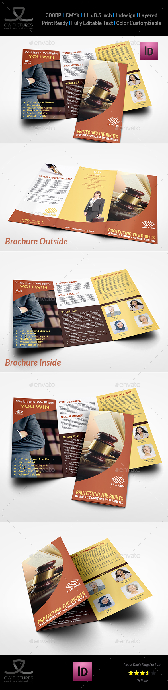 Law Firm Tri Fold Brochure Template By OWPictures GraphicRiver - Law firm brochure template