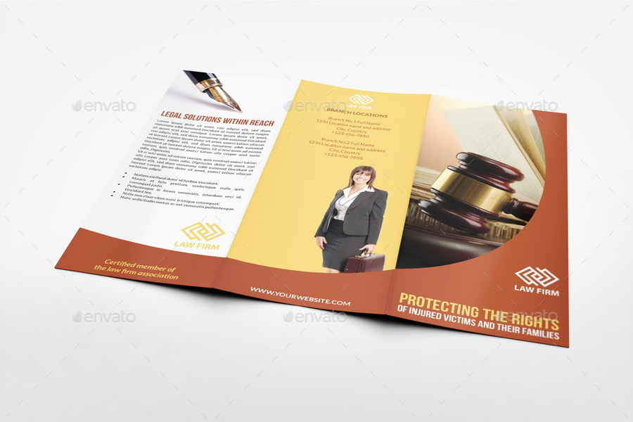 Law Firm Tri Fold Brochure Template By Owpictures  Graphicriver
