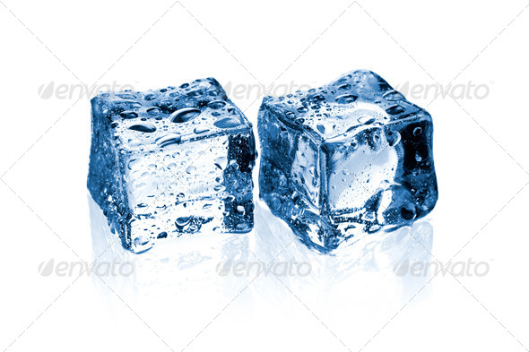 two ice cubes - Stock Photo - Images