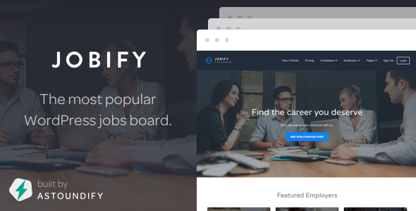 Jobify - The Most Popular WordPress Job Board Theme - Directory & Listings Corporate
