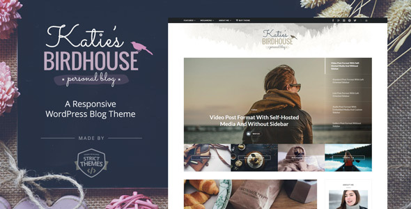 BirdHouse – A Responsive WordPress Blog Theme