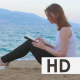 Woman Using Tablet Device - VideoHive Item for Sale