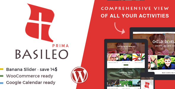 Basileo Prima • stylish & responsive WordPress theme for contemporary church