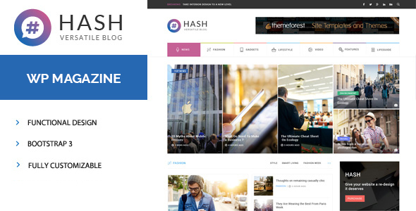 Hash - Responsive WordPress Magazine Theme - News / Editorial Blog / Magazine