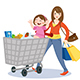 Mom and Child Shopping - GraphicRiver Item for Sale