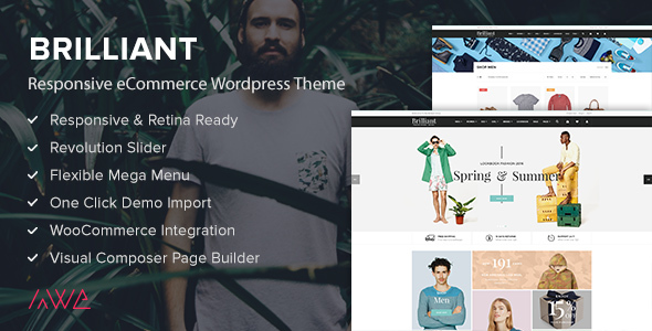Brilliant – Responsive eCommerce WordPress Theme