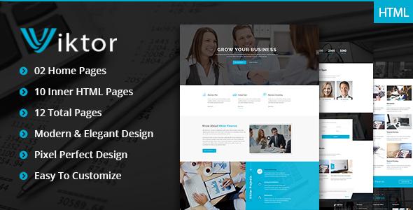 Viktor – Premimum Corportate & Business HTML Template