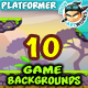 10 Platformer Game Backgrounds Set - GraphicRiver Item for Sale