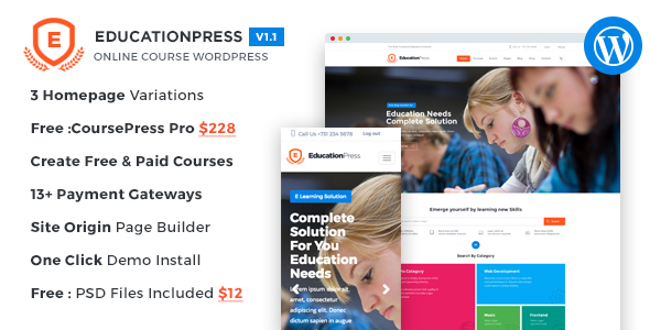 EducationPress – Online Courses / Classes WordPress Theme