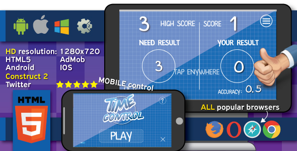 Time control - HTML5 (.capx) - CodeCanyon Item for Sale