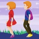 Girl & Boy Walk Cartoon - VideoHive Item for Sale