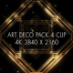 4K Luxury Art deco  Gatsby Pack 4 Clips - VideoHive Item for Sale