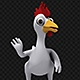 Cartoon Rooster-Chicken Waving Hello (3-Pack) - VideoHive Item for Sale