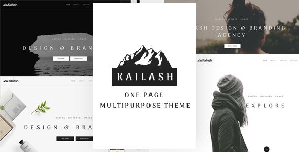Kailash – Minimal & Versatile Multi-Concept One page Theme