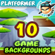 10 Platformer Game Backgrounds Set 02 - GraphicRiver Item for Sale