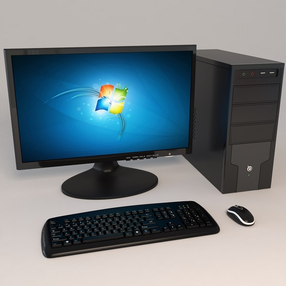 desktop computer - 3DOcean Item for Sale