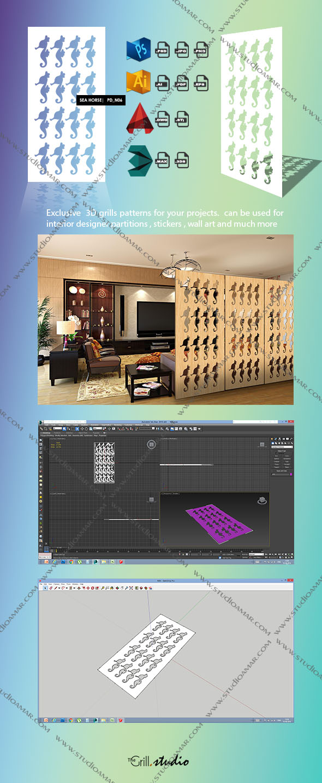 seahorse (3d screen) PD_N06 - 3DOcean Item for Sale