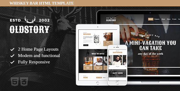 OldStory – Whisky Bar | Pub | Restaurant Site Template