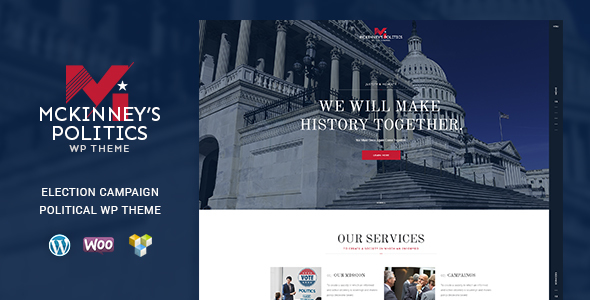 MCKinney's Politics | Elections Campaign & Political WordPress Theme - Political Nonprofit