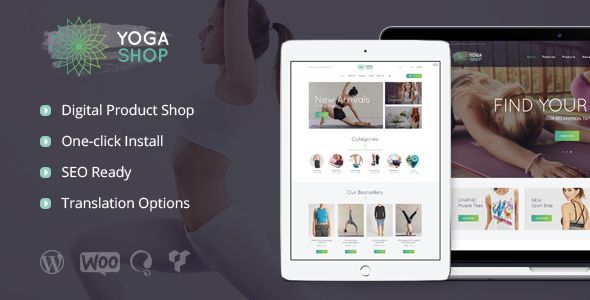 Yoga Shop – Sport Clothing & Equipment Shop WP Theme