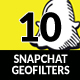 Snapchat Geofilters - GraphicRiver Item for Sale