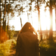 Girl Walking in the Forest 1 - VideoHive Item for Sale