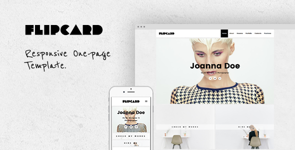 FlipCard - Responsive One-page Template - Personal Site Templates