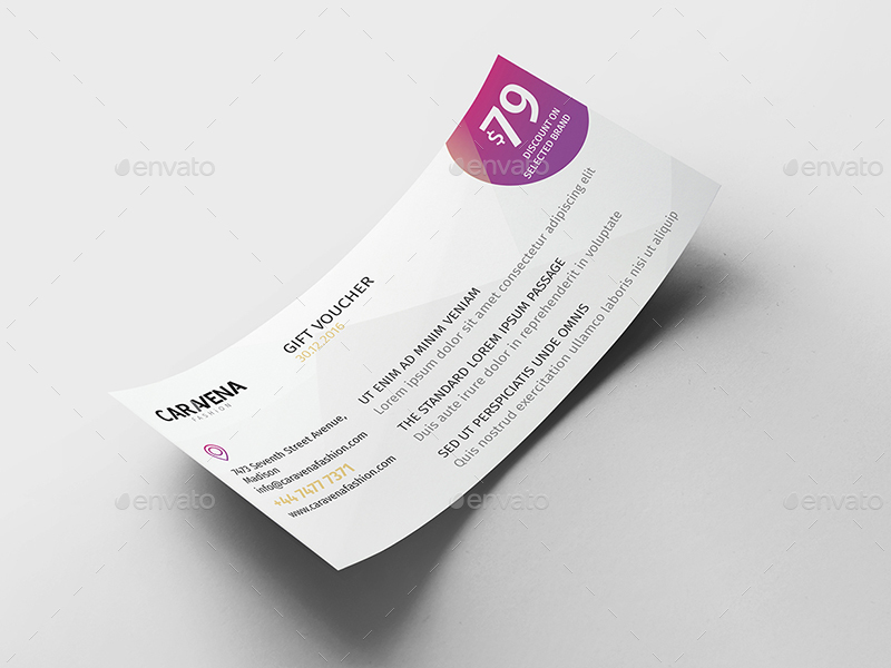 Caravena | Gift Voucher Template by wutip2 | GraphicRiver