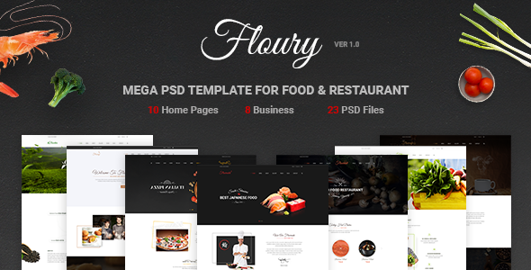 Floury - Mega PSD Template for Food & Restaurant