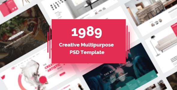 1989 – Modern Creative Multipurpose PSD Template