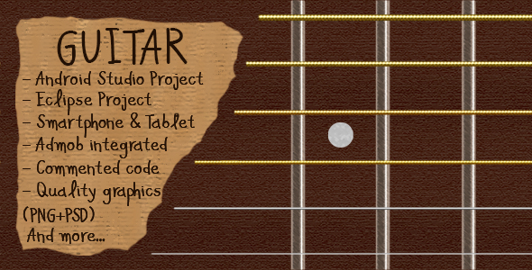 Guitar Simulator + Admob Ads (Android Studio + Eclipse) - CodeCanyon Item for Sale