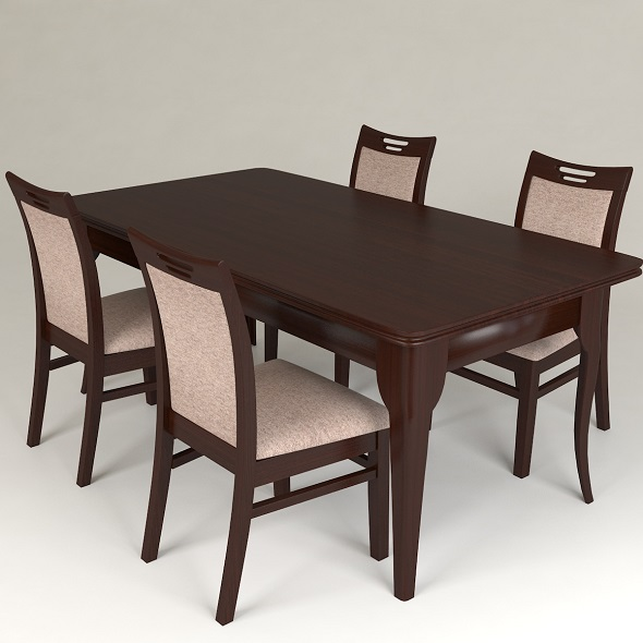 dining table and chairs - 3DOcean Item for Sale